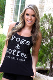 Yoga and Coffee tank