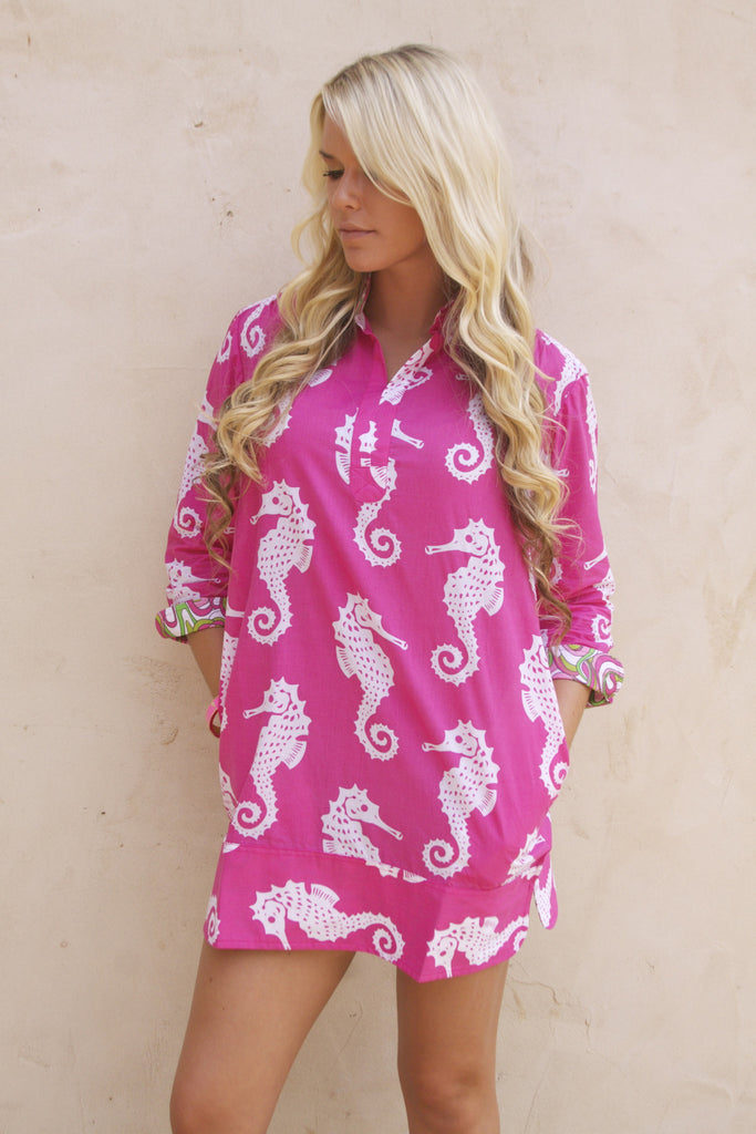 My Little Seahorse tunic by Dizzy Lizzie