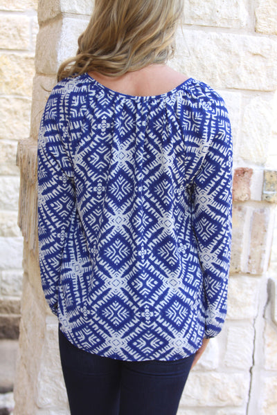 Royal Tassel Blouse