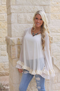 Sheer love top in cream