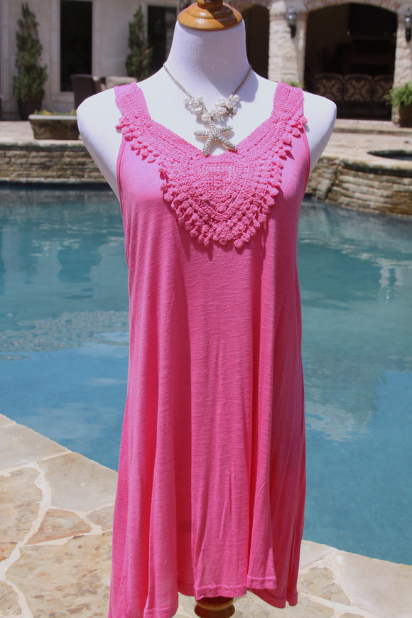 Jamaica Me Crazy coverup in pink