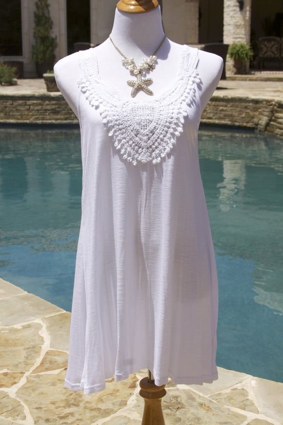 Jamaica Me Crazy coverup in white