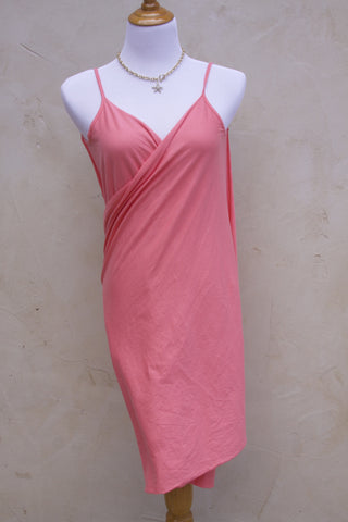 Skinny dip coverup wrap in coral