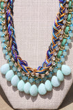 Rock Candy necklace in aqua