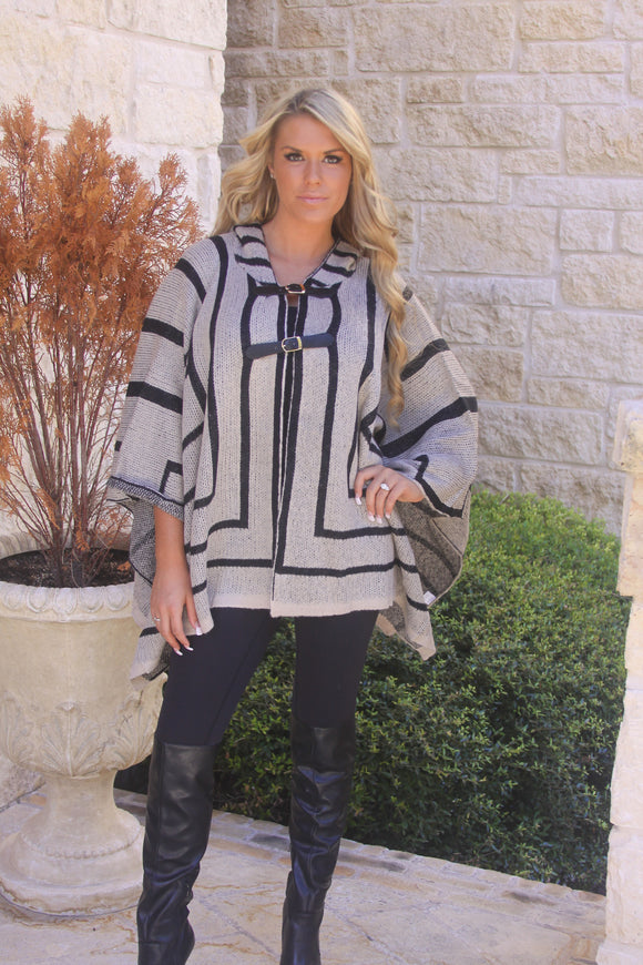 Geometric Poncho by Elan