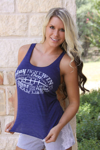 "Judith March ""Play, Fight, Win"" tank"