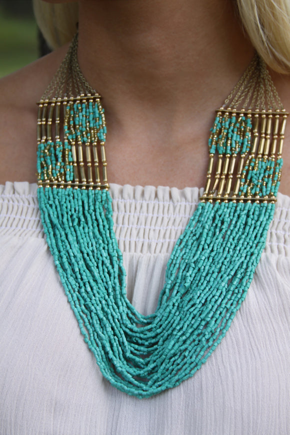 Multi-Strand Turquoise Necklace