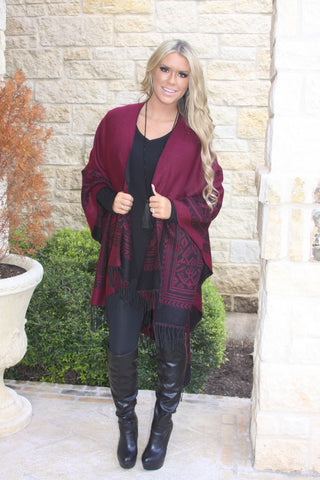 Cranberry Bliss Poncho