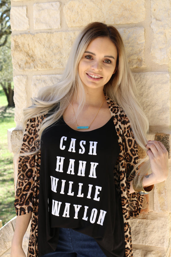 Cash Hank Willie & Waylon Tank