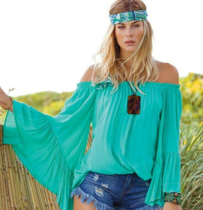 Wild Spirit Ruffle top By Elan