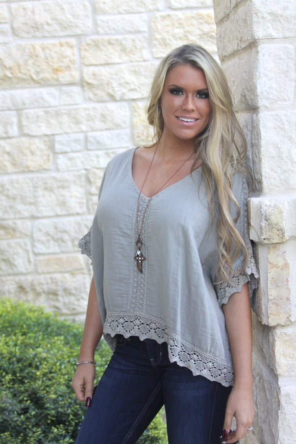 Love Stitch Mocha top