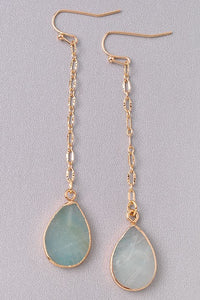 Aqua Drop Earrings