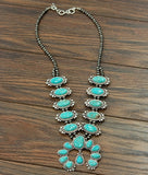 Squash Blossom Turquoise Necklace