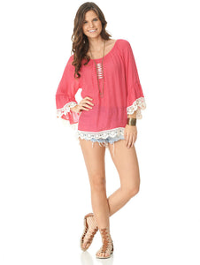 Sweet Spirit top in Hot Pink