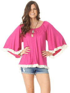 Alex top in hot pink by 2teeCouture