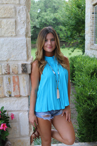 Blue Coconut top By Elan