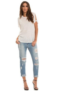 Distressed Boyfriend jeans (Denim) By Elan