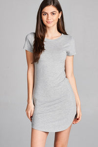 Go To T-shirt Dress in Heather Gray