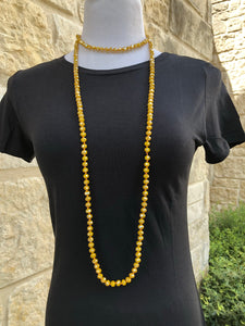 Beaded Layering Necklace Mustard