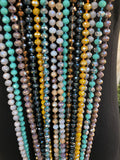 Beaded Layering Necklace Grey