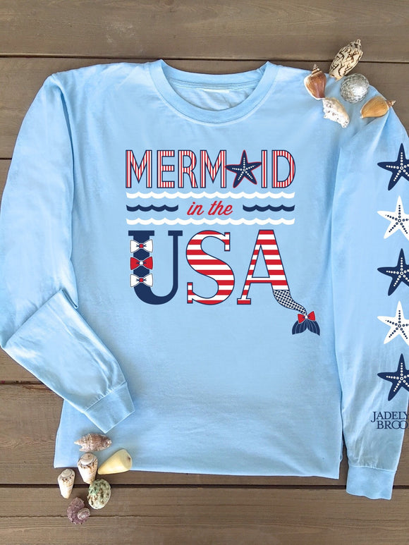 Jadelynn Brooke- Mermaid in the U.S.A. tee shirt