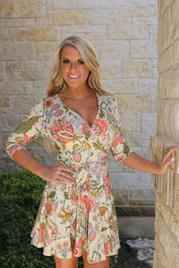 In Bloom Wrap Dress by VaVa