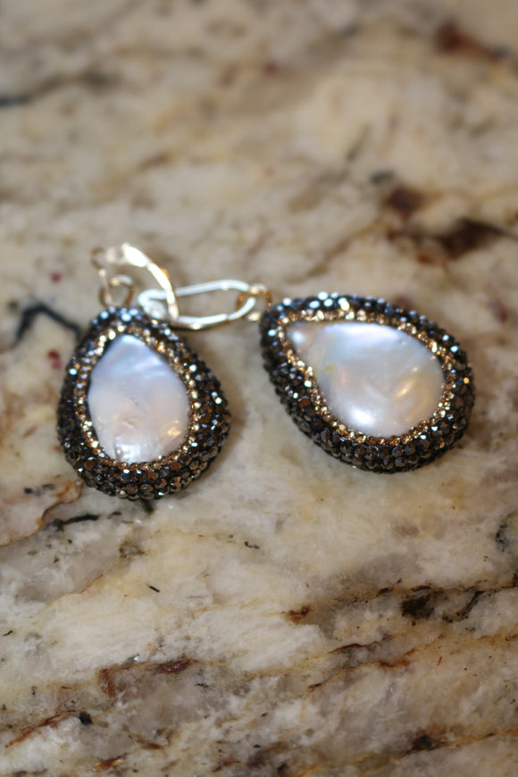 Mother of Pearl Earrings by Kelly Cimber Designs