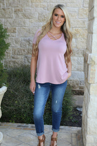 XOXO top in Rose