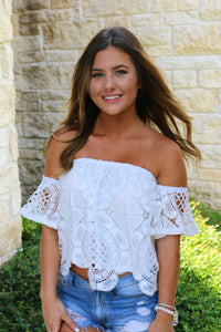 Lyla white lace top