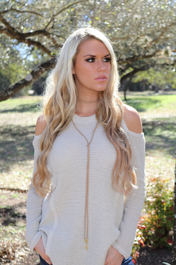 Suede Wrap Choker in Tan