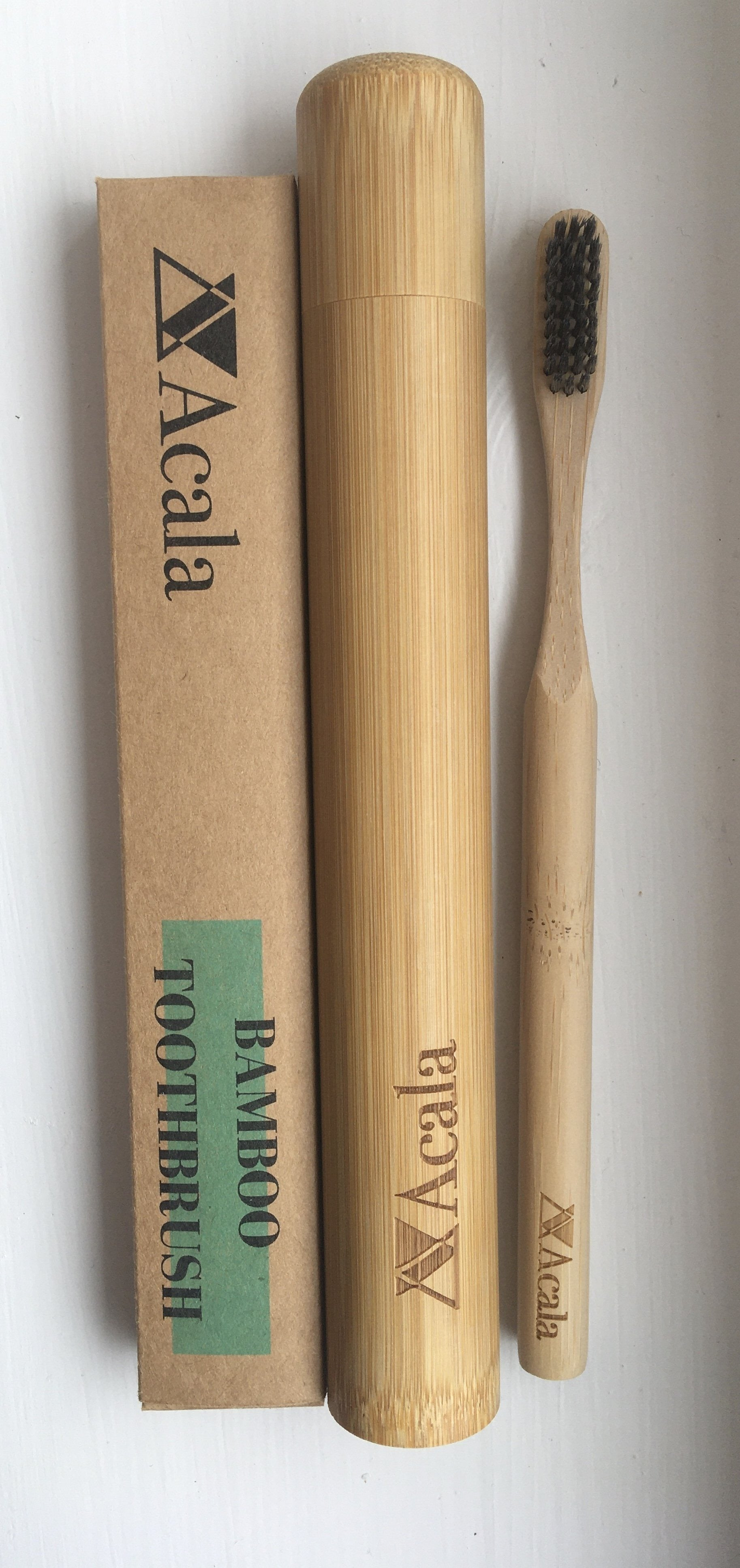 Bamboo Toothbrush with Charcoal Bristles from Acala
