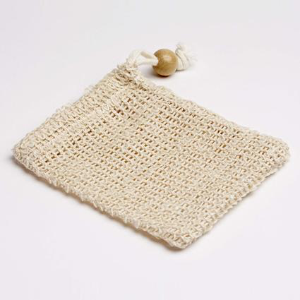 Natural Woven Sisal Soap Bag