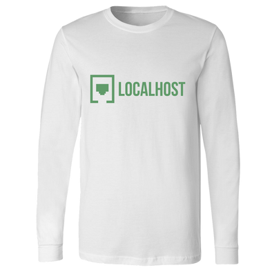 Local Host - Lockup Long Sleeve - White