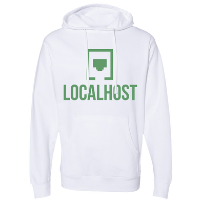 Local Host - Logo Hoodie - White