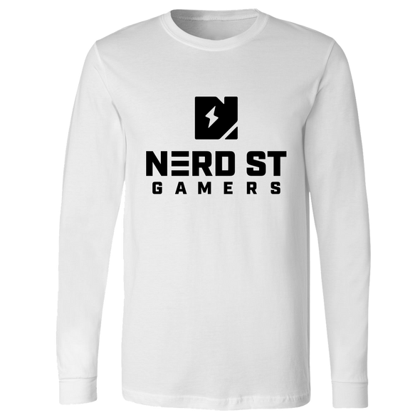 Nerd Street Gamers - Logo Long Sleeve - White
