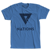 Nations Big Logo Tee - Marina Blue - We Are Nations