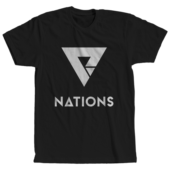 Nations Big Logo Tee - Black - We Are Nations