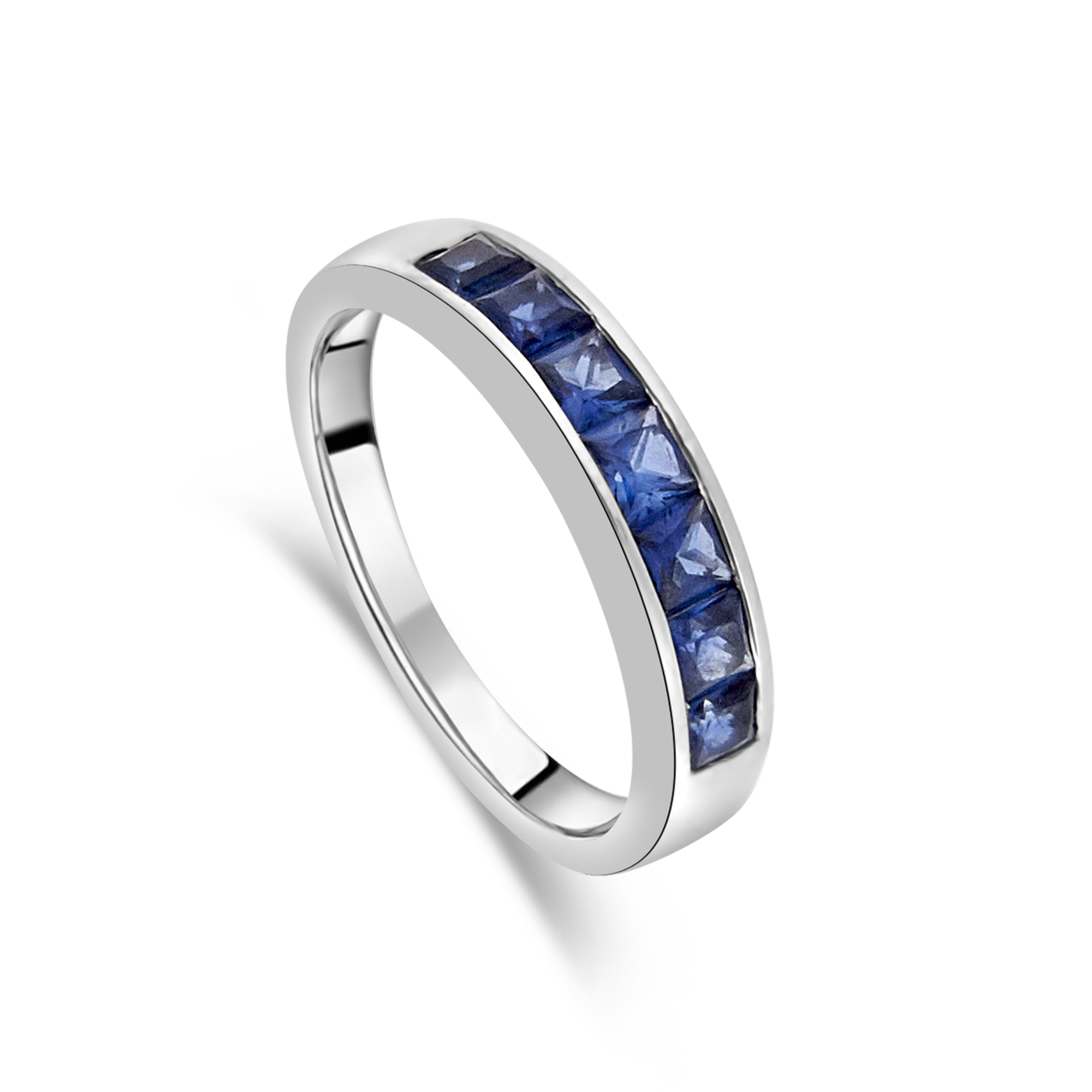 Channel Set Sapphire Ring