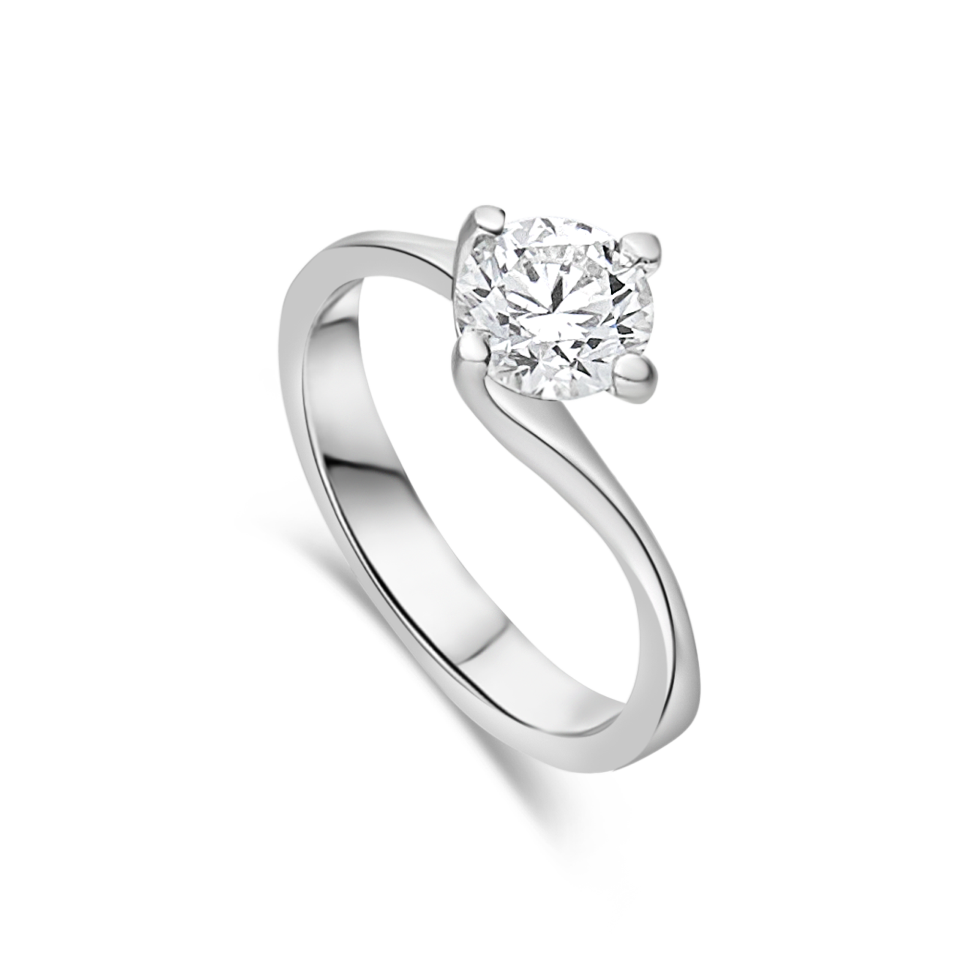 "The ""Rosalind"" Solitaire, Platinum"