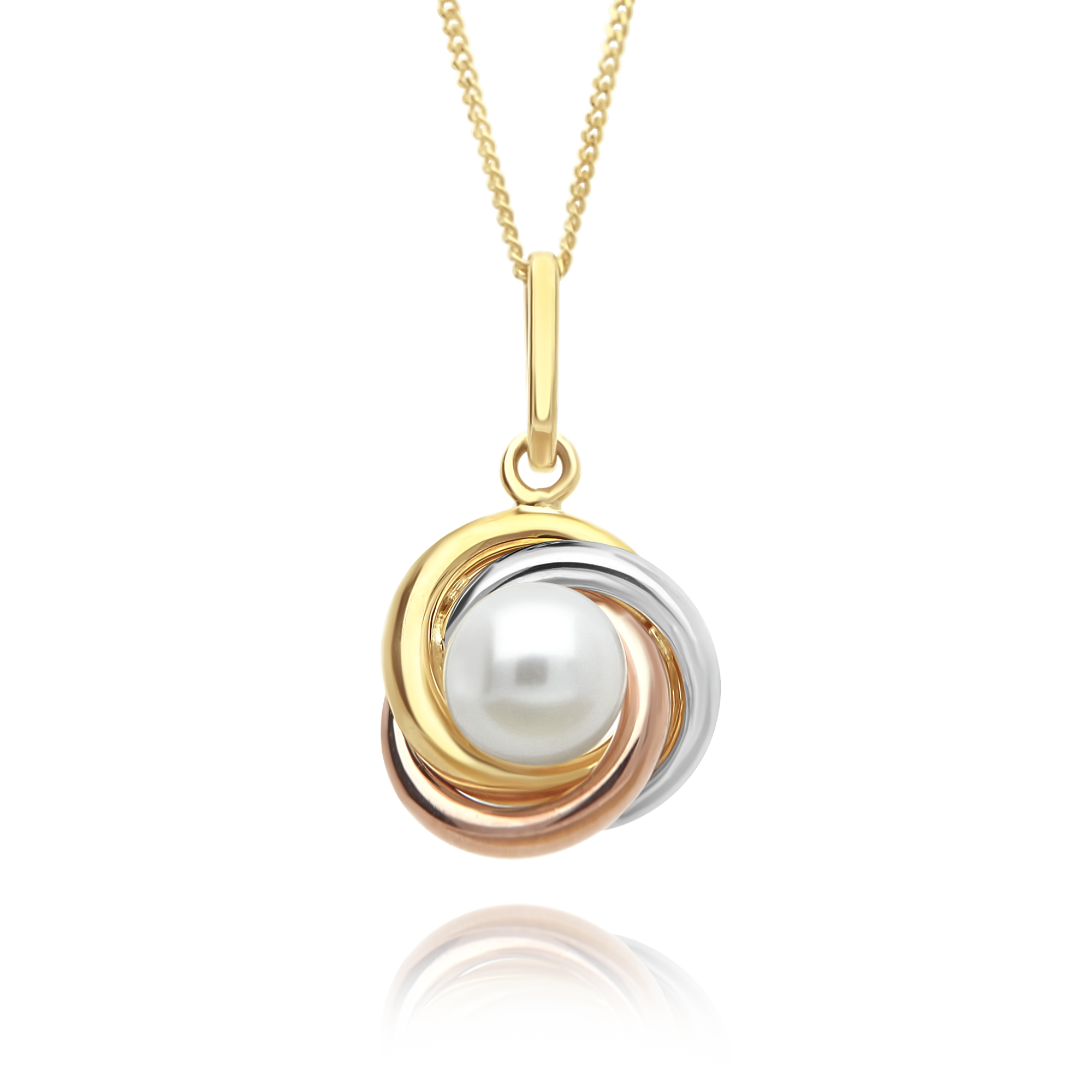 Three Tone Pearl Pendant