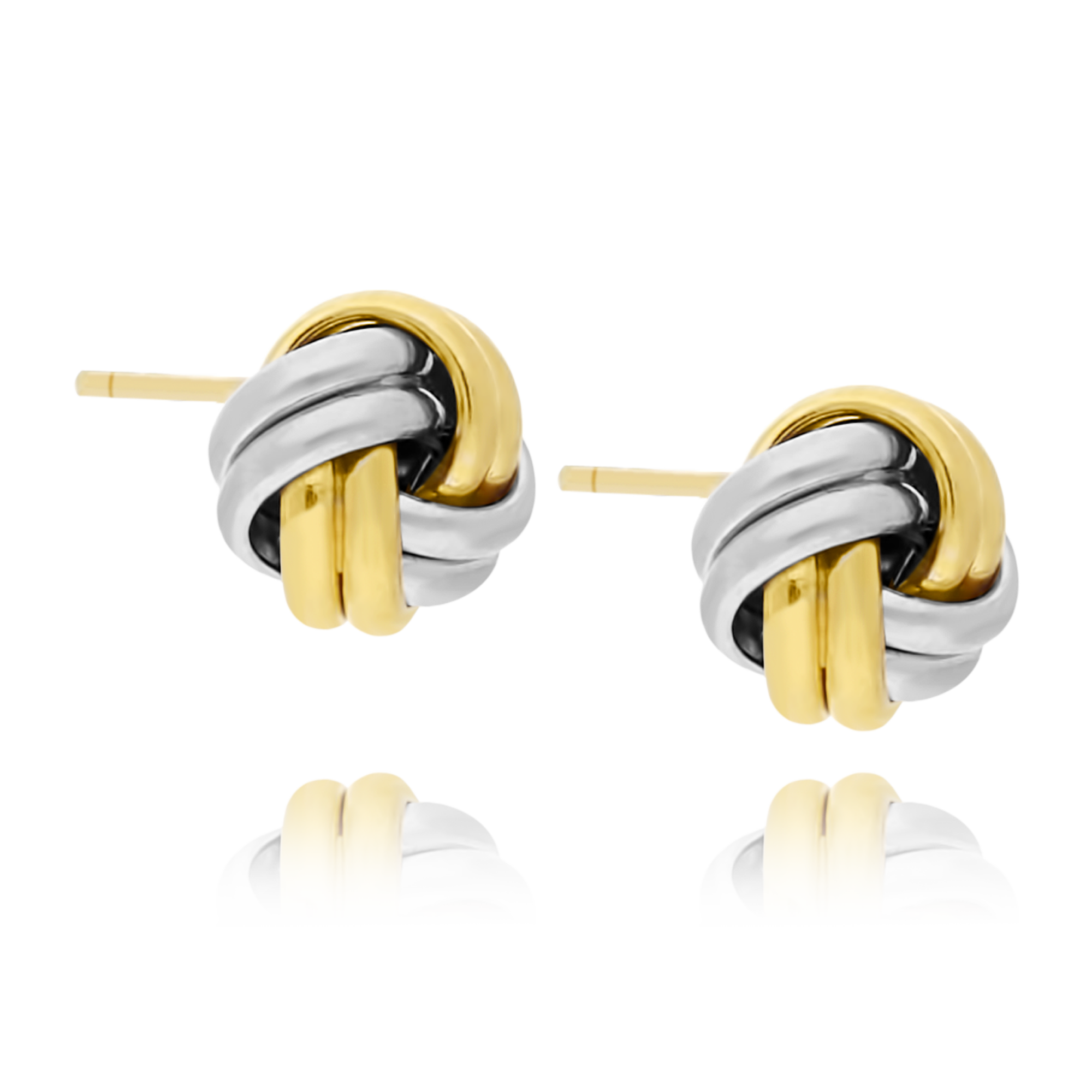 9ct Two Tone Knot Studs