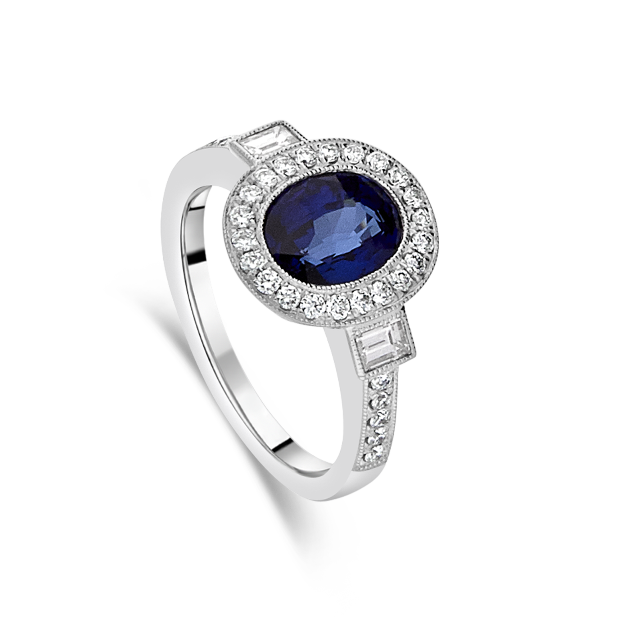 "The ""Objet D'art"" Sapphire and Diamond Ring"