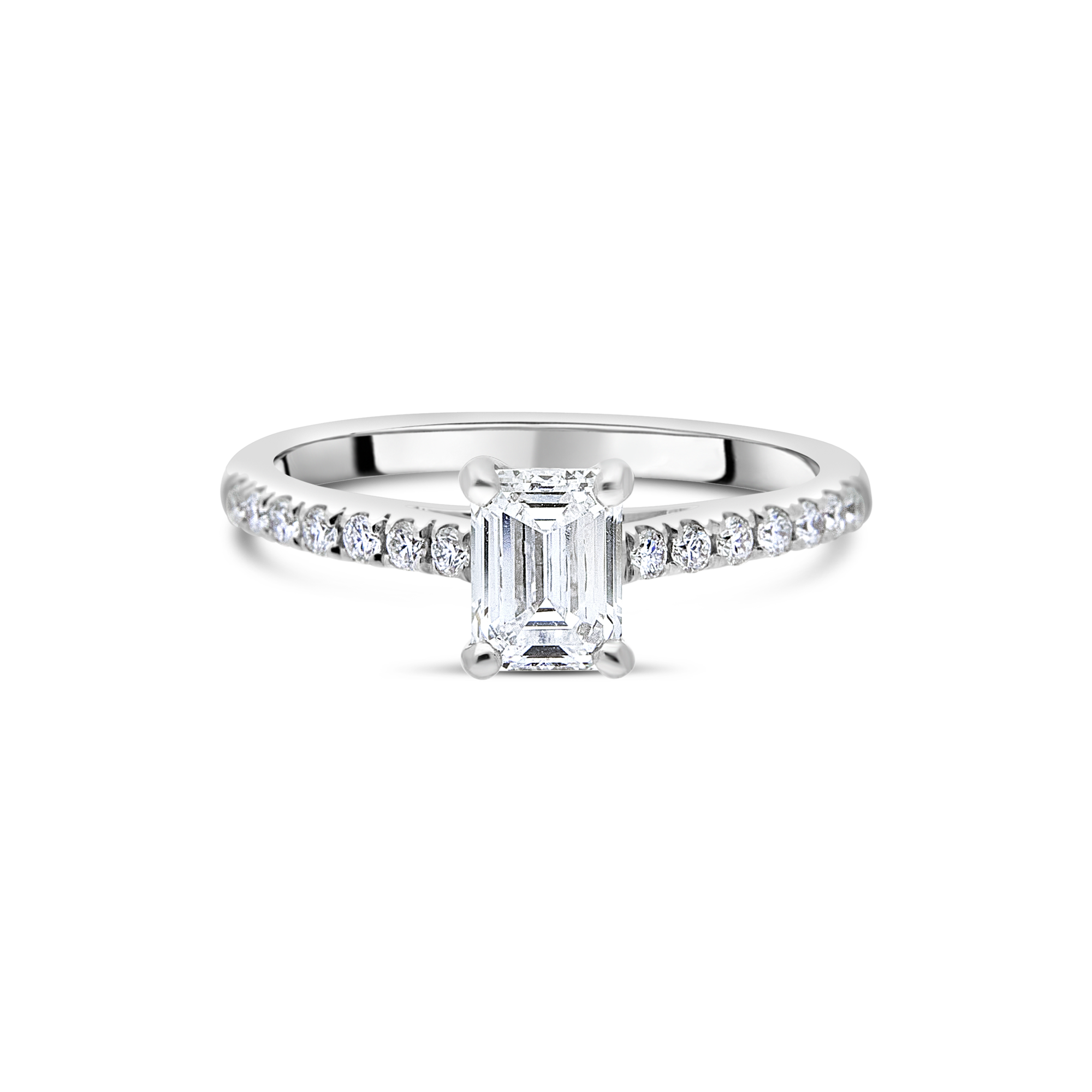 "The ""Amity"" with Emerald Cut Platinum"