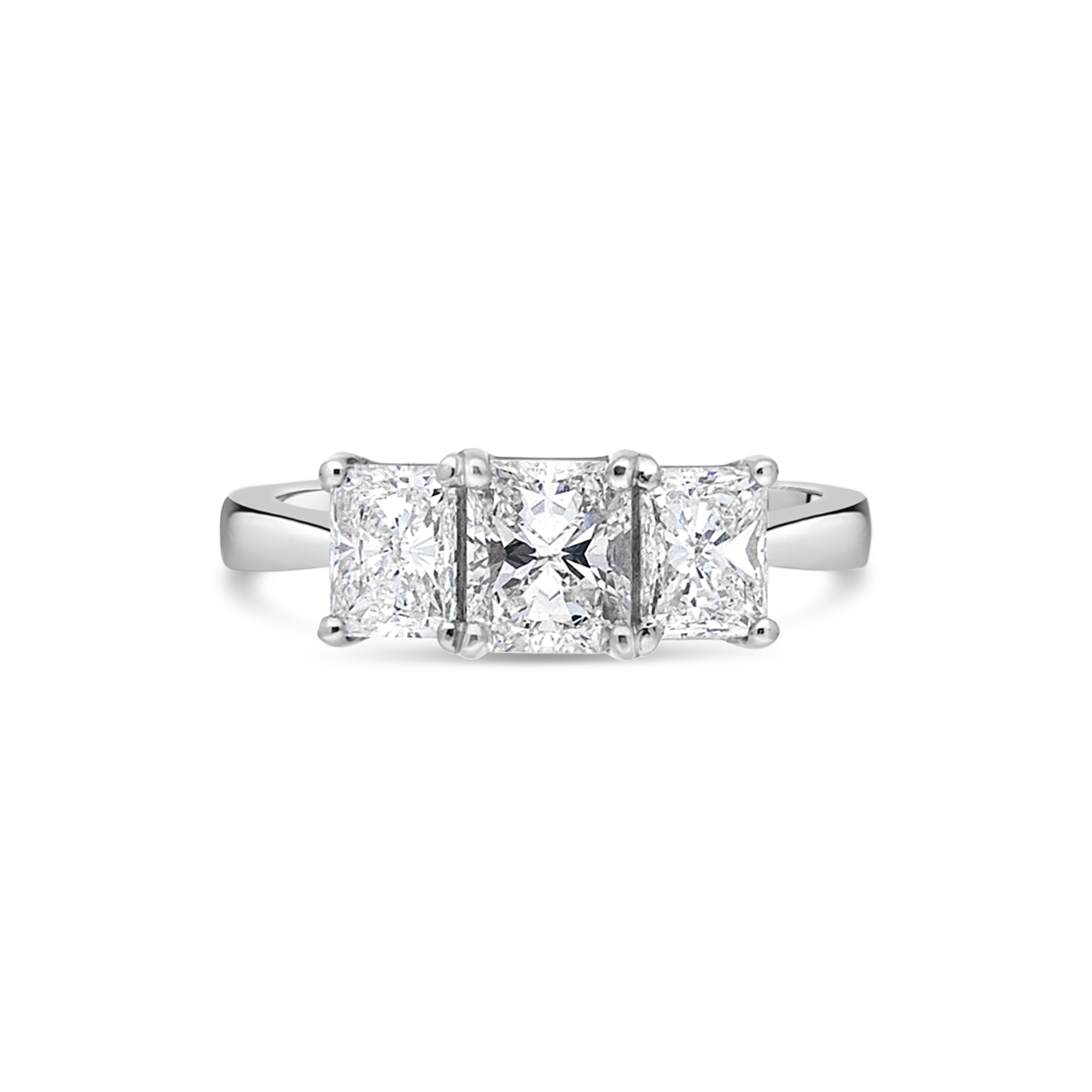 "The ""Legato"" Radiant Cut 3 Stone"