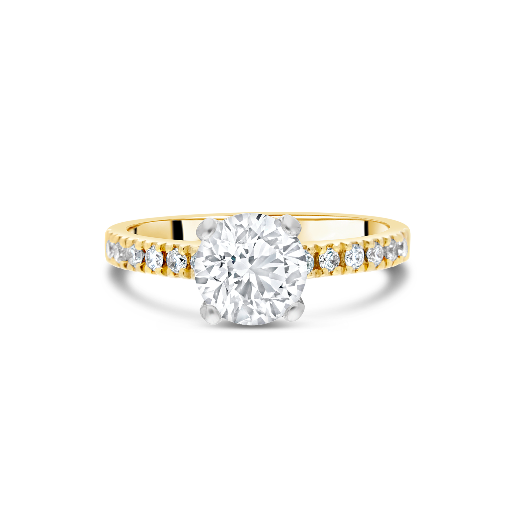 "The ""Temptress"" with Round Brilliant, Yellow Gold"
