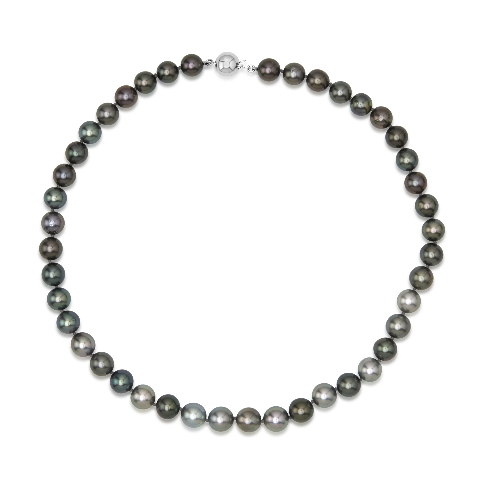 14ct White Gold Tahitian Pearl Strand