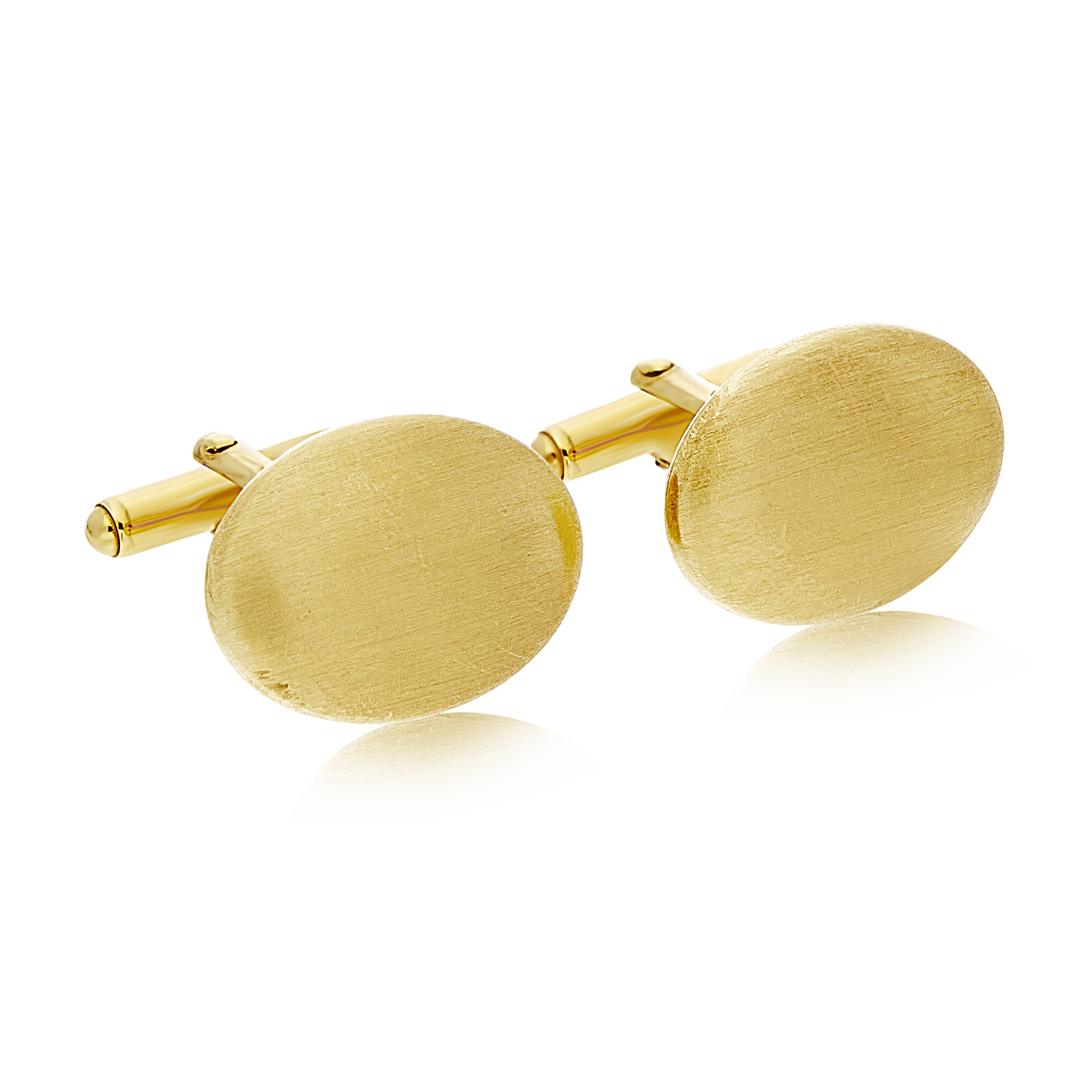 Gold Cufflinks with Matte Finish