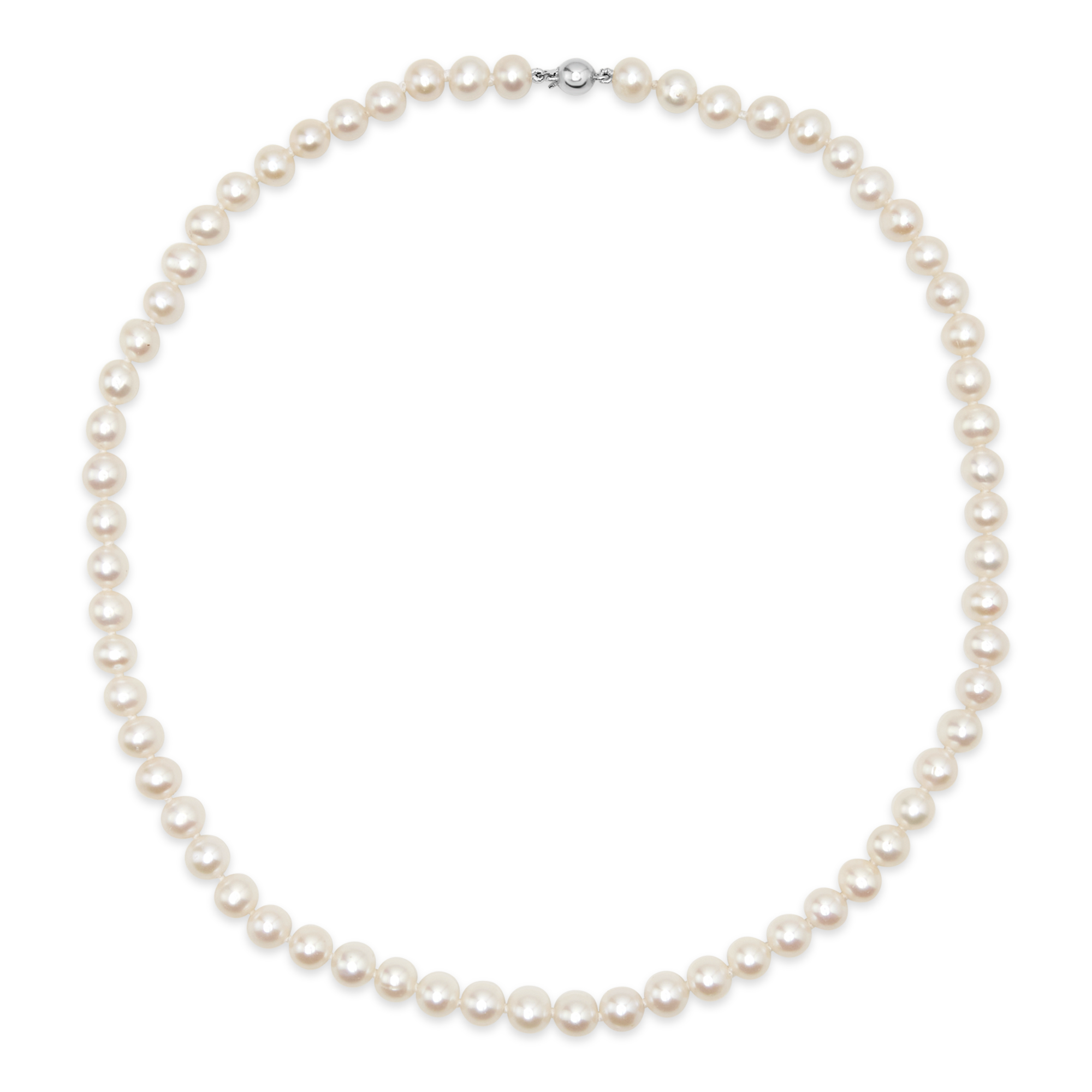 "Freshwater Pearl Strand 18"" White Gold"