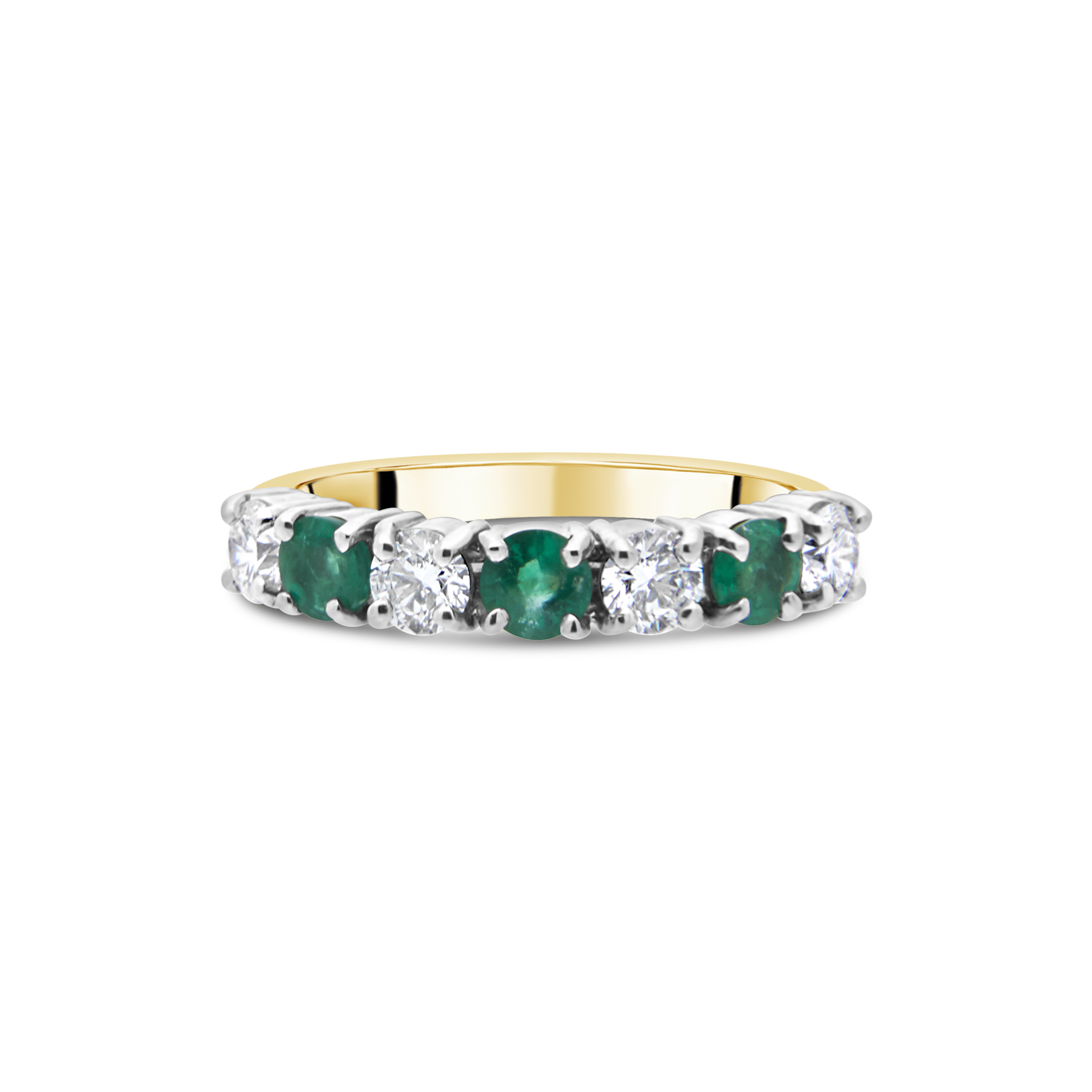 "The ""Galeria"" Emerald and Diamond, Yellow Gold"
