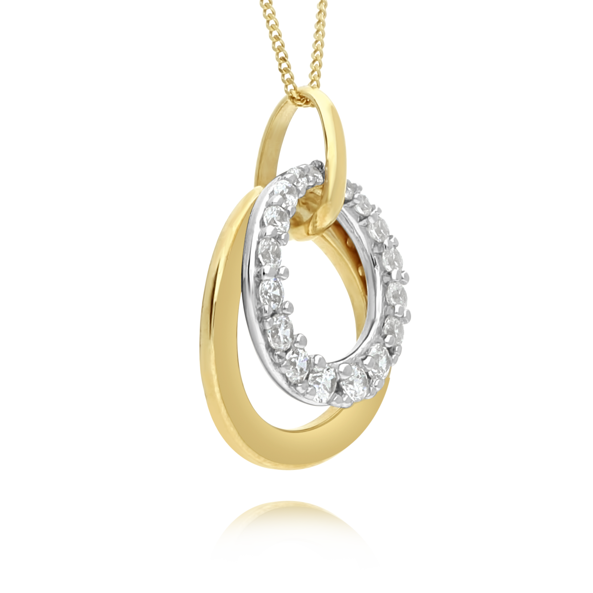 Gold and Cubiz Zirconia Pendant
